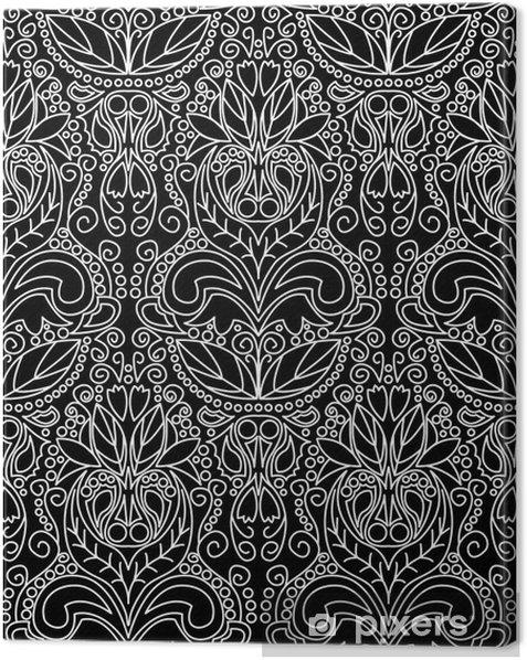 Obraz na płótnie Vintage Wzór Czarny - Sztuka i twórczość