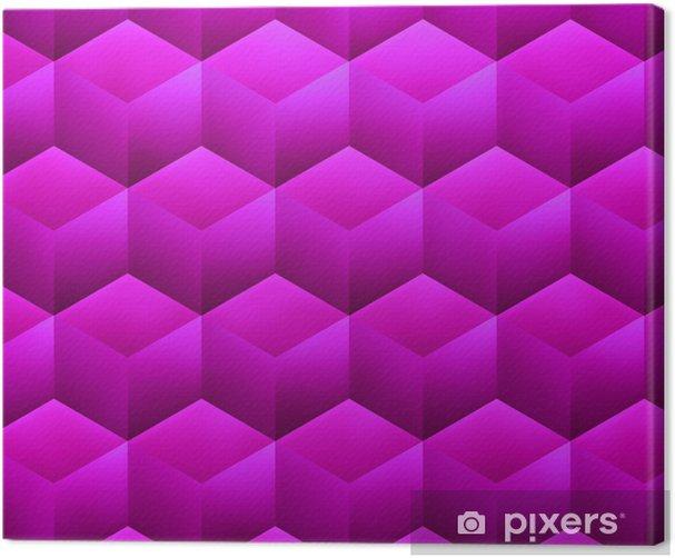 Obraz na płótnie Violet Streszczenie Cubes - Tła