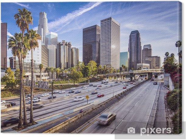 Obraz na płótnie W centrum Los Angeles, California pejzaż - Palmy