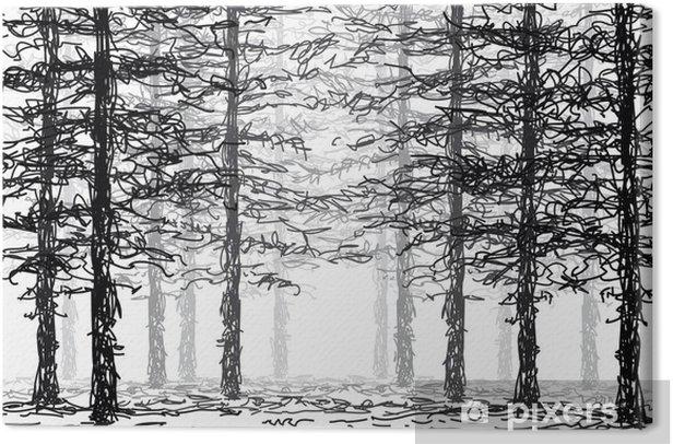 Obraz na płótnie W lesie - Inne uczucia