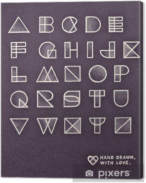 Obraz na płótnie W stylu pop-art w stylu vintage alfabet projekt. Ręcznie rysowane ołówkiem - Tekstury