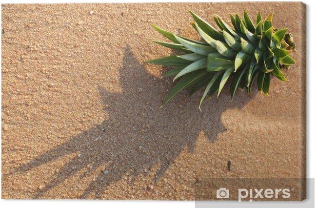 Obraz na płótnie W zanurzeniu ananasa na pięknej, piaszczystej plaży w Azji - Rośliny