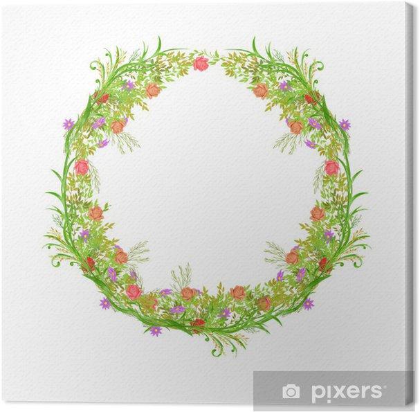 Obraz na płótnie Wakacje wianek - Kwiaty