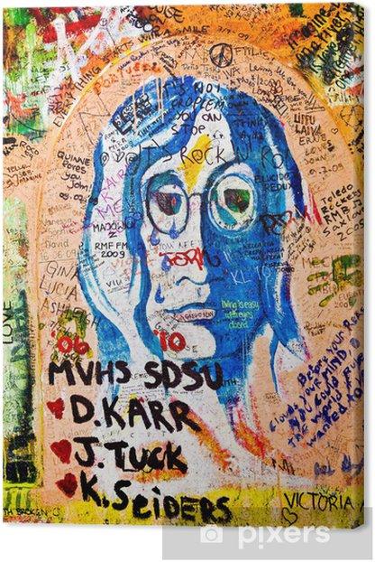 Obraz na płótnie Wall of John Lennon (Praga) - Retrato (Toma 2) - Miasta europejskie