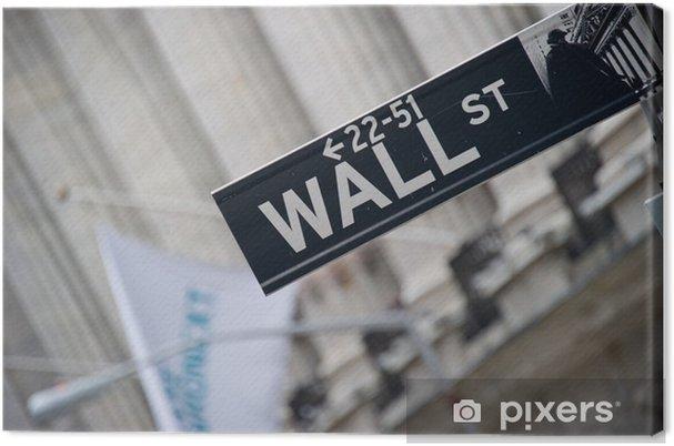 Obraz na płótnie Wall Street - Miasta amerykańskie