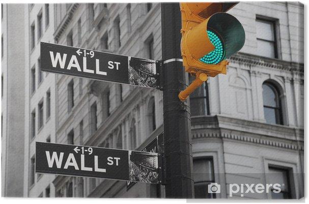 Obraz na płótnie Wall Street - Finanse