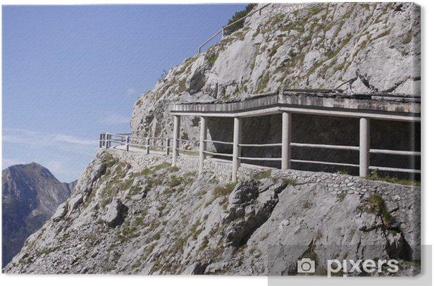 Obraz na płótnie Wanderweg w Alpach - Europa