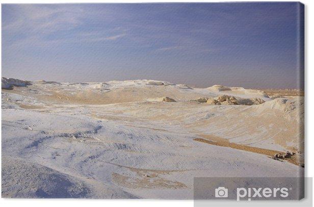 Obraz na płótnie Wapiennych skał formacji w Białej Pustyni Zachodniej w Egipcie - Pustynie