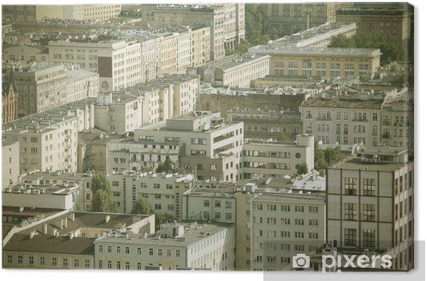 Obraz na płótnie Warszawa, Polska - krzyż przetwarzane odcienia koloru - Pejzaż miejski