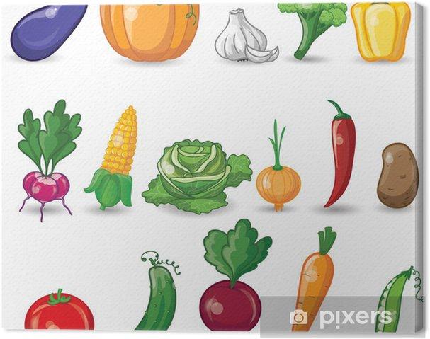 Obraz na płótnie Warzywa Cartoon - Posiłki