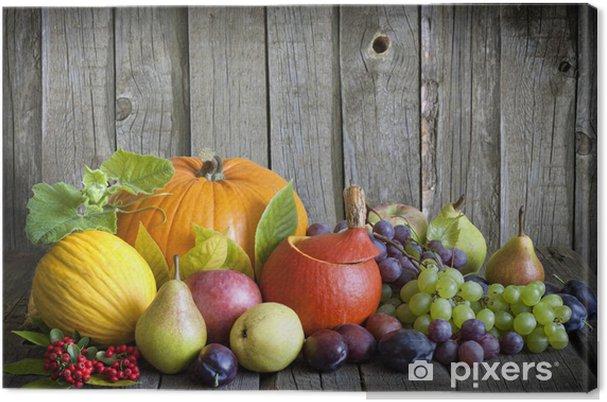Obraz na płótnie Warzywa i owoce, w sezonie jesiennym, martwa natura - Posiłki