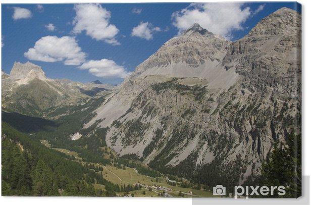 Obraz na płótnie Wąska dolina - Góry