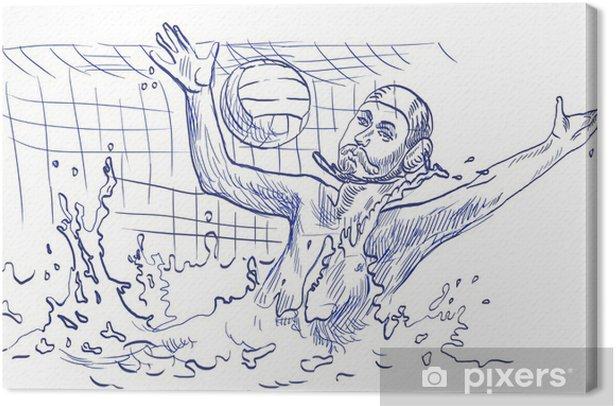 Obraz na płótnie Water polo, bramkarz - rysunek odręczny - Sporty drużynowe