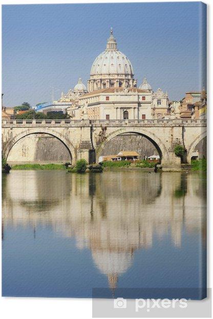 Obraz na płótnie Watykan od Ponte Umberto I w Rzym, Włochy - Miasta europejskie