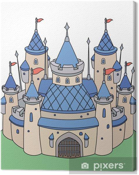 Obraz na płótnie Wektor bajki zamku dla chłopca. - Tła