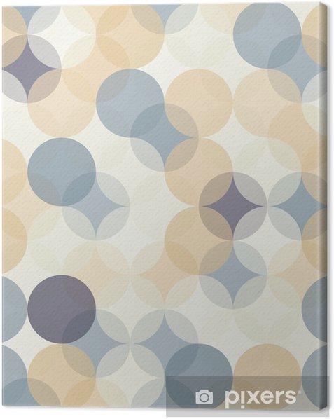 Obraz na płótnie Wektor bez szwu kolorowe koła nowoczesne Geometria wzór, kolor abstrakcyjne geometryczne tło, tapeta druku, retro tekstury, projektowanie mody hipster, __ - Zasoby graficzne
