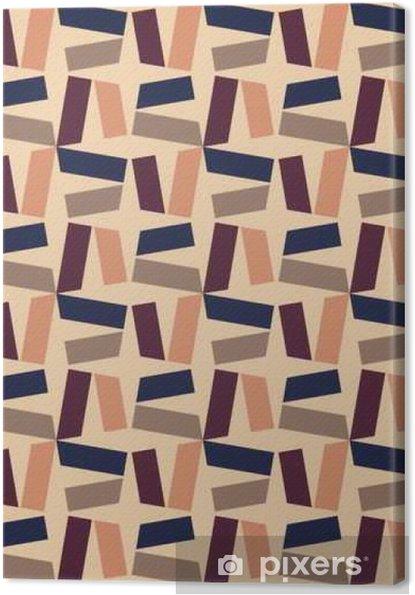 Obraz na płótnie Wektor bez szwu kolorowy wzór nowoczesnej geometrii, kolor abstrakcyjne geometryczne tło, poduszka wielobarwny druk, retro tekstury, projektowanie mody hipster - Zasoby graficzne