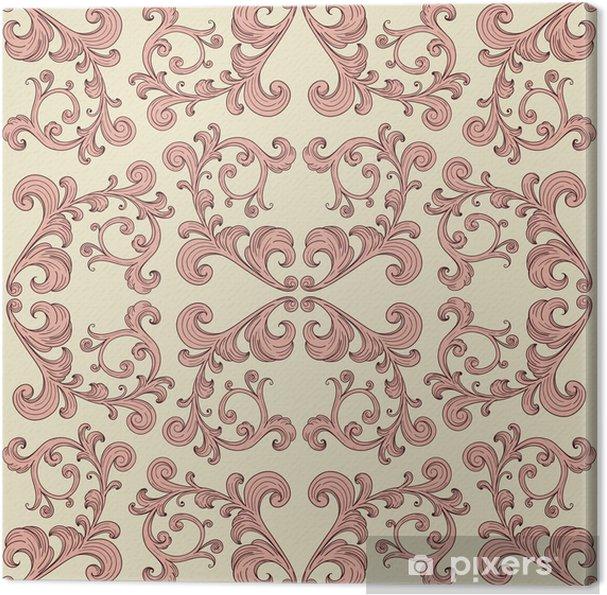 Obraz na płótnie Wektor bez szwu romantyczny tła z rocznika kwiatowy ornament - Tekstury