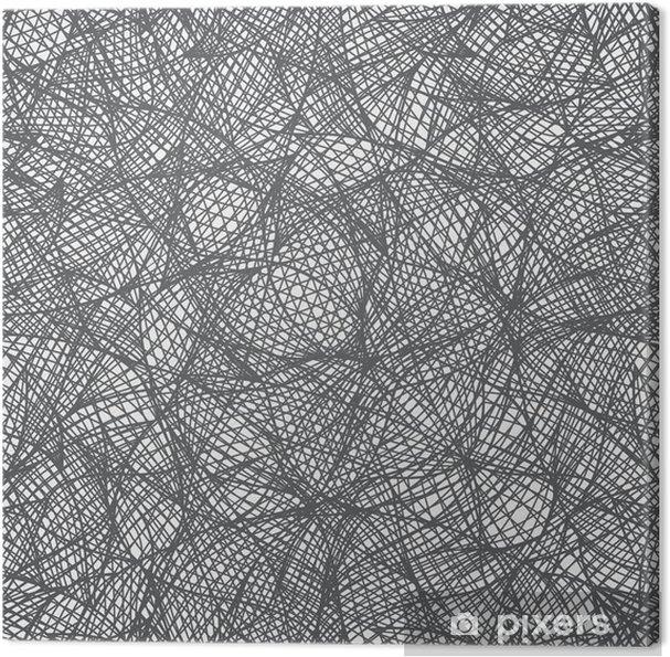 Obraz na płótnie Wektor bezszwowych abstrakcyjna deseń rysowane ręcznie - Abstrakcja