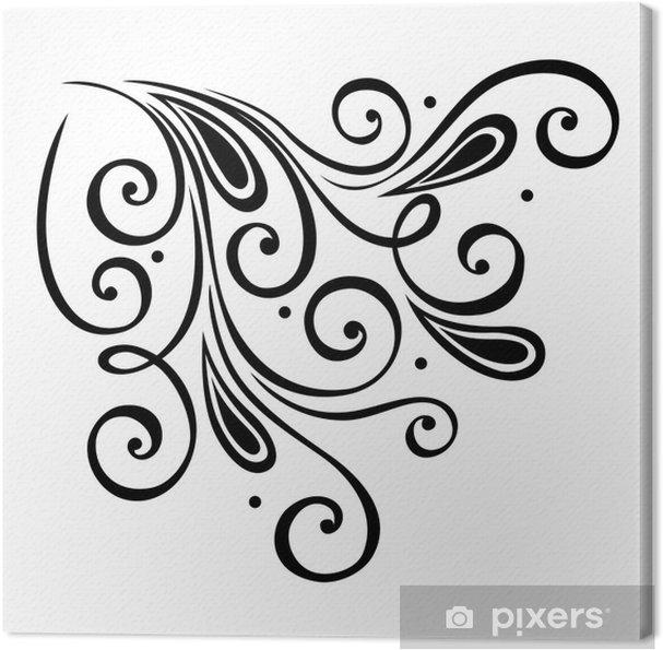 Obraz na płótnie Wektor Deco elementy abstrakcyjne. Elementy projektu - Abstrakcja