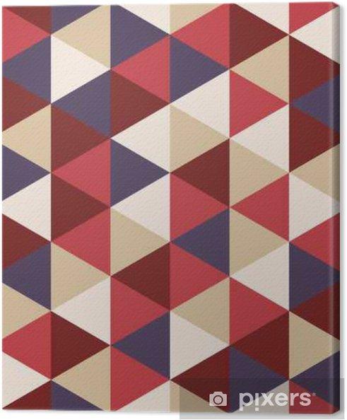 Obraz na płótnie Wektor kolorowy nowoczesny szwu geometrii trójkąta, kolor abstrakcyjne geometryczne tło, poduszka wielobarwny druk, retro tekstury, projektowanie mody hipster - Zasoby graficzne