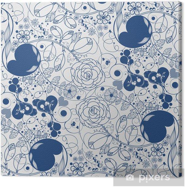 Obraz na płótnie Wektor kwiat tła - Sztuka i twórczość