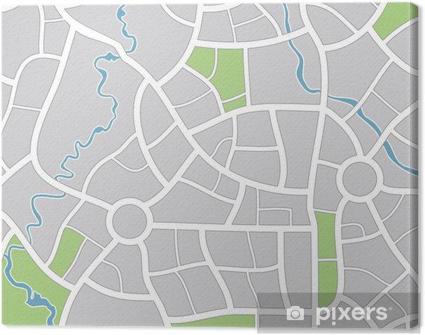 Obraz na płótnie Wektor mapa miasta - Akcesoria