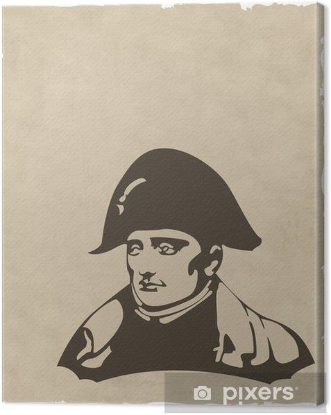 Obraz na płótnie Wektor Napoleon Bonaparte głowa - Tła