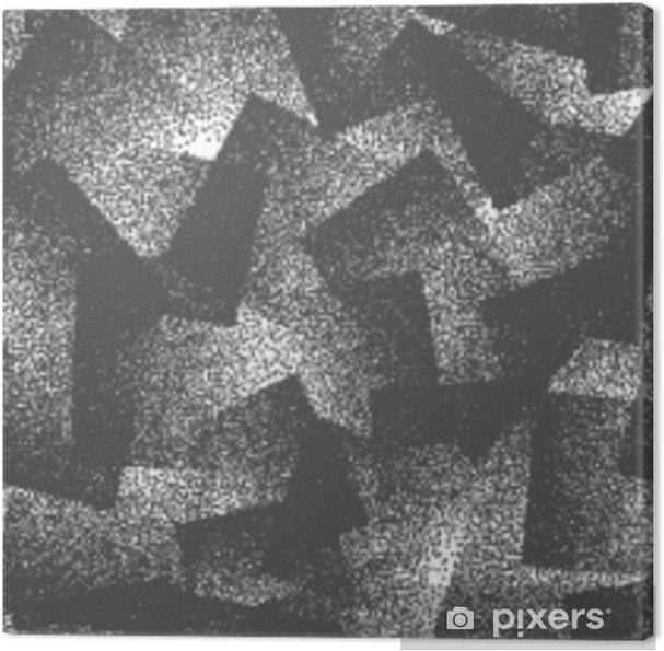 Obraz na płótnie Wektor streszczenie stippled dziwne hipster wzór. ręcznie taflowy geometryczne przerywana grunge biały i czarny stałe proste tło. dziwaczna ilustracja - Zasoby graficzne
