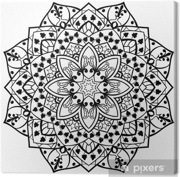 Obraz na płótnie Wektor stylizowane mandalę. - Znaki i symbole