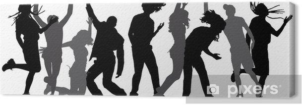 Obraz na płótnie Wektor sylwetki tańczących ludzi. - Rozrywka