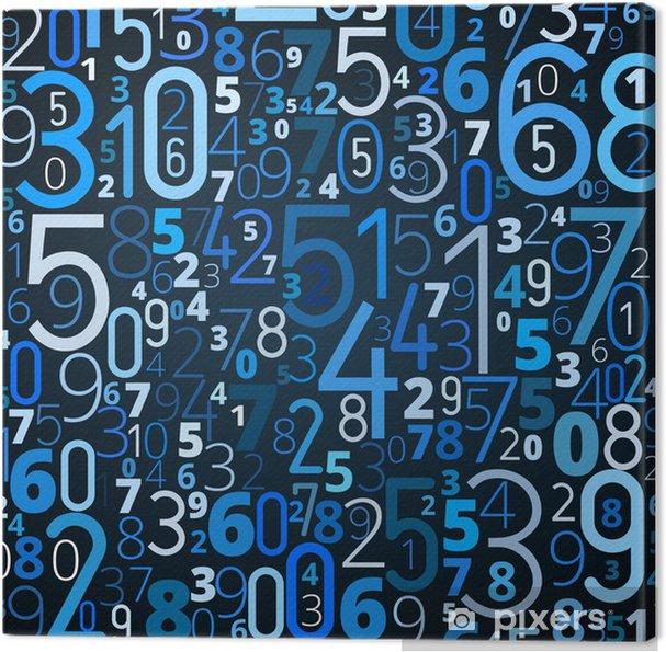 Obraz na płótnie Wektor tła z numerami - Internet i sieci