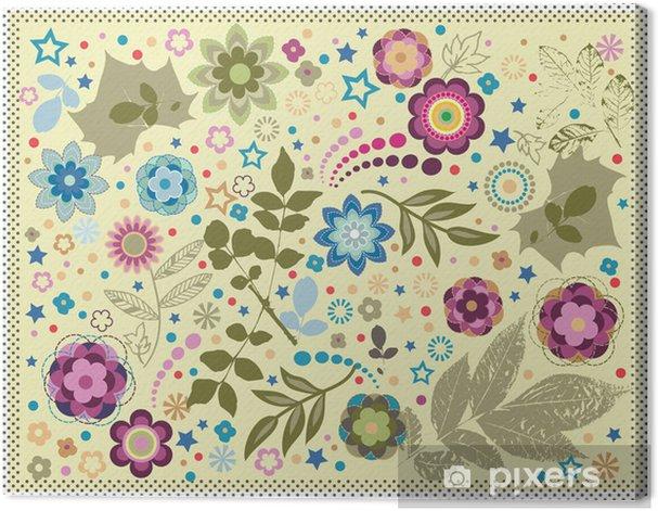 Obraz na płótnie Wektor tle kwiatów - Tematy