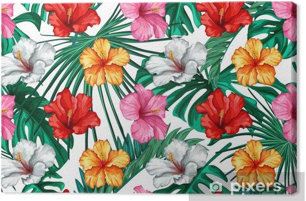 Obraz na płótnie Wektor tropikalny liści, wzór hibiskusa - Zasoby graficzne