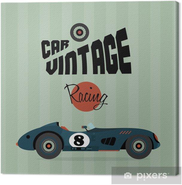 Obraz na płótnie Wektor vintage, sportowe samochody wyścigowe - Sztuka i twórczość