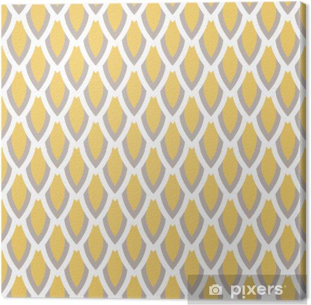 Obraz na płótnie Wektor wzór geometryczny musztarda żółty i taupe skali. klasyczny prosty styl. - Zasoby graficzne