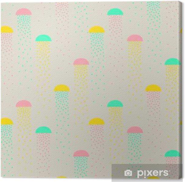 Obraz na płótnie Wektor wzór kolorowych abstrakcyjnych kształtów - Zasoby graficzne
