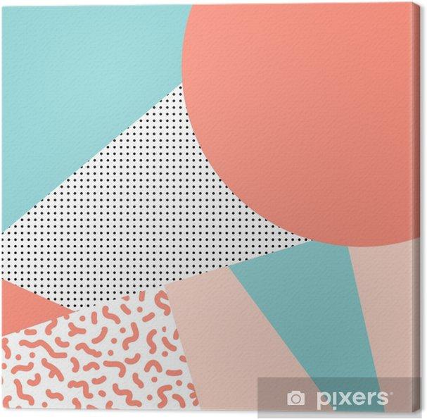Obraz na płótnie Wektor wzór z elementami geometrycznymi w stylu lat 80-tych. mem - Zasoby graficzne
