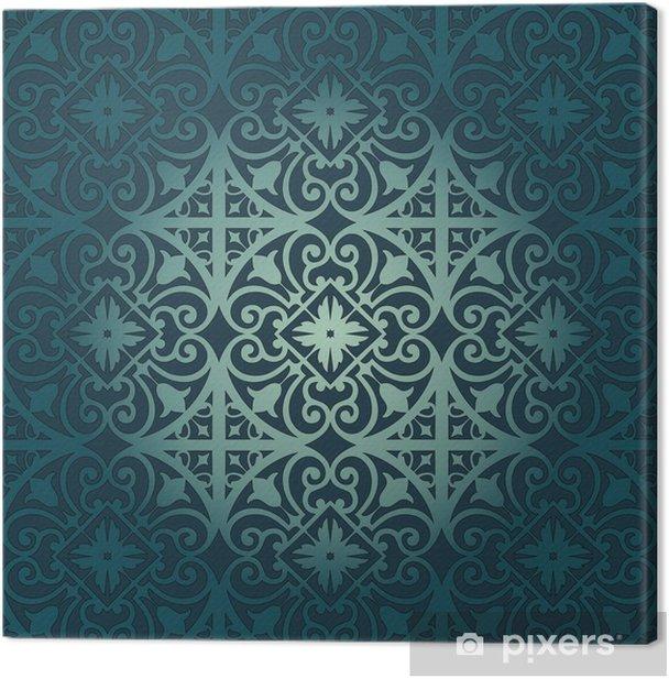 Obraz na płótnie Wektor wzorca z ornamentem kwiatowym i geometryczny - Style
