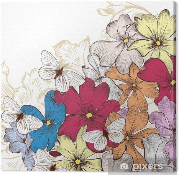 Obraz na płótnie Wektorowe Moda z kwiatami - Tła