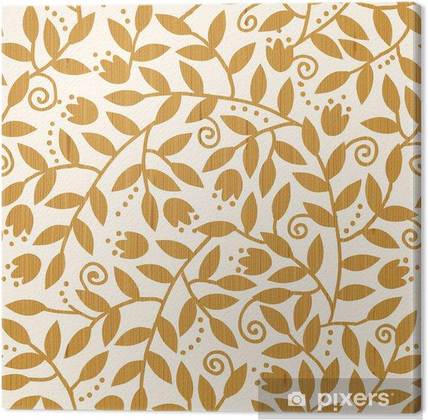 Obraz na płótnie Wektorowe Teksturowane Kolorowe Oddziały Jednolite tło wzór - Kwiaty