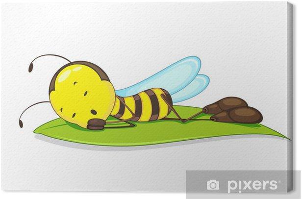 Obraz na płótnie Wektorowego z Pszczoła spanie na liściu - Sztuka i twórczość