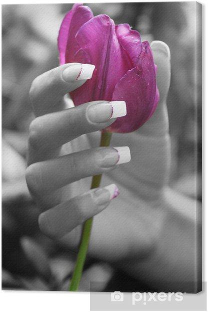 Obraz na płótnie Wellness w lila - Uroda i pielęgnacja ciała