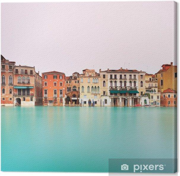 Obraz na płótnie Wenecja, Canal Grande szczegół. Długa ekspozycja. - Miasta europejskie
