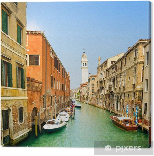Obraz na płótnie Wenecja panorama w Greci kanał wody i kościoła dzwonnica. Włochy - Tematy