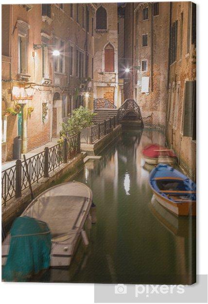 Obraz na płótnie Wenecja - patrzeć Cale lavezzera canla w nocy - Miasta europejskie