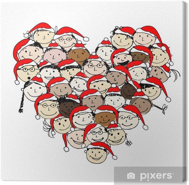 Obraz na płótnie Wesołych Świąt! Szczęśliwi ludzie dla projektu - Święta międzynarodowe