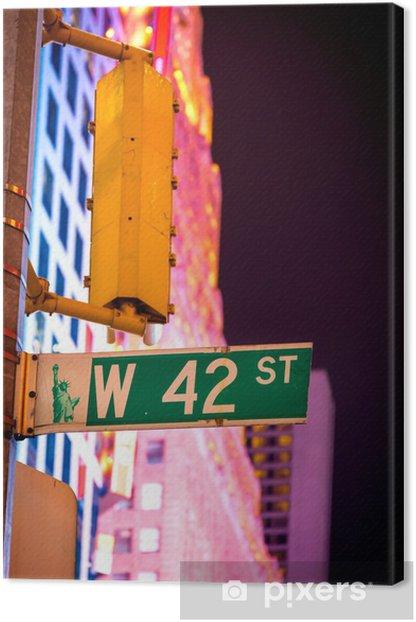 Obraz na płótnie West 42nd Ulica znak na Times Square w Nowym Jorku, USA. - Ameryka