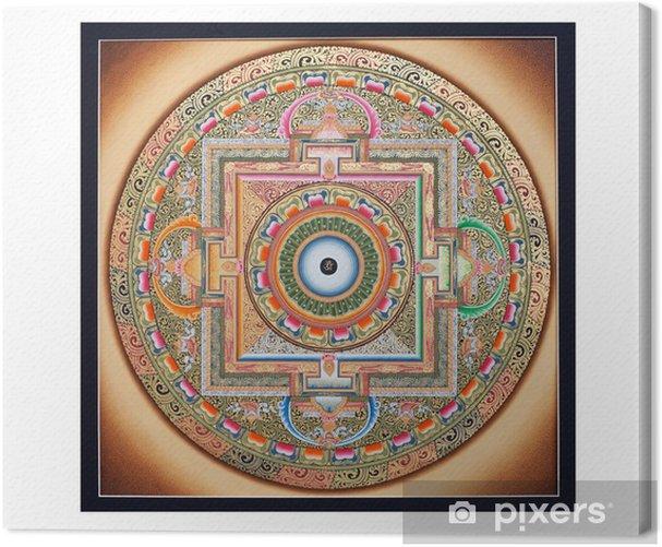Obraz na płótnie Wewnętrzna część starożytnej tangka Ohm Mandala na białym - Tematy