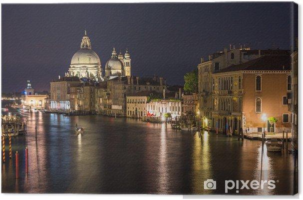 Obraz na płótnie Wgląd nocy Canal Grande w Wenecji - Miasta europejskie